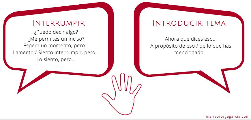 Interrupt in Spanish DELE oral