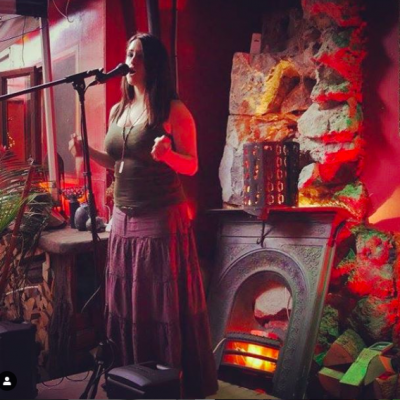 María Ortega performing